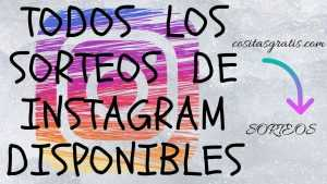 SORTEOS DE INSTRAGRAM DISPONIBLES