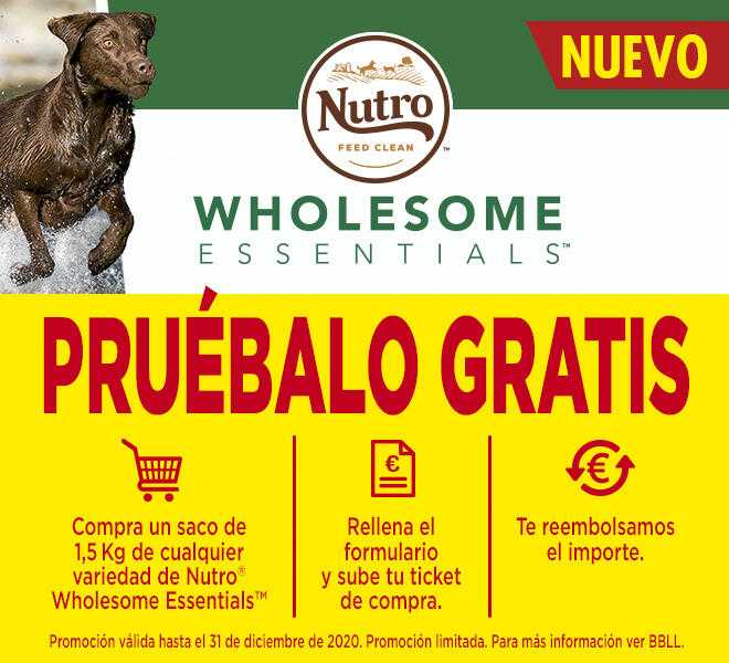 1.500 reembolsos de Nutro Wholesome Essentials